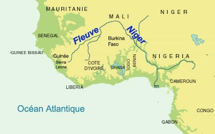 Carte De Lafrique Fleuves.Rfi L Afrique De L Ouest Au Chevet Du Fleuve Niger
