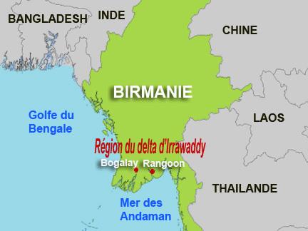 Birmanie Carte Regions.Rfi La Junte Maintient Le Referendum Malgre Le Chaos
