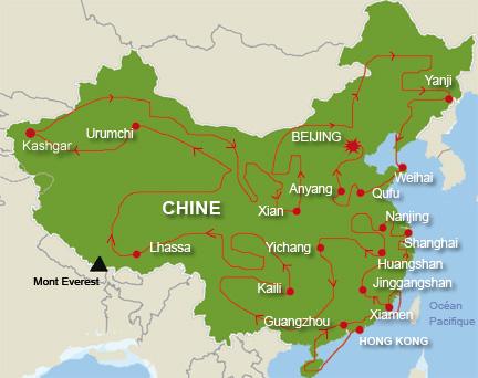 Carte Chine Pekin Shanghai.Rfi La Flamme Des Jo En Chine