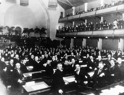 Session d'ouverture de la Société des Nations en 1920.(Photo : UN)